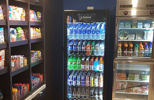 Hotel services and vending machines by Universal Vending Management